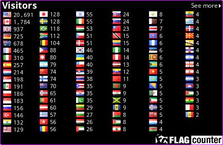 http://s05.flagcounter.com/count/BuE/bg=000000/txt=FFFCFA/border=CF0FFF/columns=6/maxflags=100/viewers=0/labels=0/