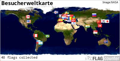 Besucherweltkarte